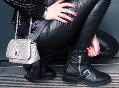 Fashion Love: PAILLETTEN BOMBER JACKET & BIKER LEGGINGS