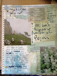 Art Journal Page Art Journal Pages, Art Journals, Junk Journal, Dandelion Clock, Writing Poetry, Simple Things, Art Therapy, Robin, Muse