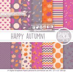 Un favorito personal de mi tienda Etsy https://www.etsy.com/mx/listing/470386716/fondos-otono-rosa-nina-morado-violeta New patterns! #patterns #leaves #autumn #fall #autunno #happyautumn #babygirl #littlepumpkin #itsagirl