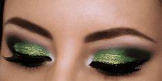 st patrick's day eye makeup