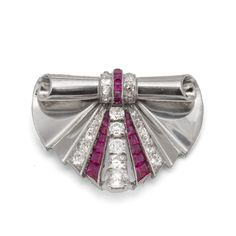 Diamond Art Deco Pin available at Windsor Jewelers, Inc. in New York City