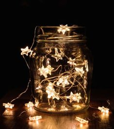 Clear Glass Jar With String Lights · Free Stock Photo Diy Mason Jar Lights, Mason Jar Lighting, Mason Jar Diy, Mason Jar Lamp, Battery Powered String Lights, Solar String Lights, Lightroom, Photoshop, Glass Jars