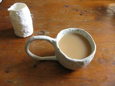 I would hire a ceramic artist to re-interpret this piece. Not a coffee drinker, but perfect for tea :)