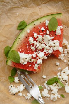 Juicy water melon & salty feta cheese = a perfect combination