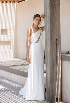 Bridal Gowns, Wedding Gowns, Jane Hill, Civil Wedding, Column Dress, Stunning Wedding Dresses, Stripes Fashion, Boho Bride, Bridal Collection