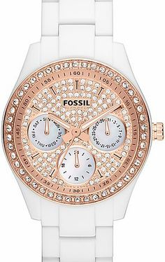 Perfect summer watch Fossil Watch ES3096 Rose Gold GLAM #fossil #rosegold