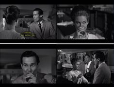 """Johnny Cool (1963) Part II…Johnny Cool and Dare Guinness lock eyes over Whisky and water. I'd say that the """"eyes"""" have it"""