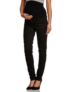 Mamalicious - Vaqueros premamá slim para mujer, talla W26 / L34 (ES 36), color vaquero negro (black denim)
