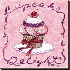 オールポスターズの ジャネット・クルスカンプ「Cupcake Delight」キャンバスプリント