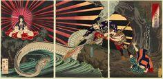 Kuniharu (Triptych) - The Serpent