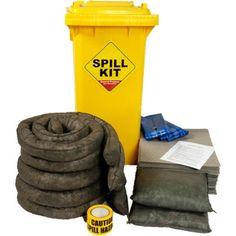 120 Litre Spill Kit in Wheeled bin