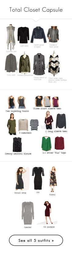 Total Closet Capsule by shawnihensler on Polyvore featuring Relaxfeel, Volcom, Romeo & Juliet Couture, MANGO, The Elder Statesman, totalclosetcapsule, H&M, Mossimo, Old Navy and Mossimo Supply Co.