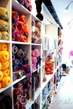 Yarn store in Boden, Sweden.