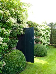 """""""Built-in"""" fence with greens"""