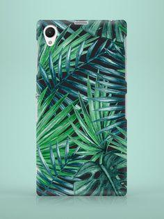 Sony Xperia Case - Dark Palm Leaves - ZO-HAN - Obudowy do telefonów