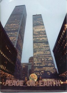 World Trade Center during the holiday season, 1970s