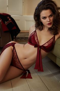 Fleur of England Private Sergeant Red Boudoir Bra and Brief