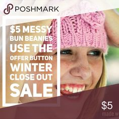 Messy Bun CLOSEOUT Use the offer button for winter sale.... ships ASAP... Accessories Hats