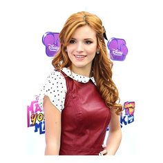Bella Thorne's Long, Red, Party, Half Updo, Hairstyle ❤ liked on Polyvore featuring anna and bella thorne
