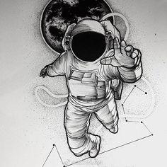 New tattoo designs men drawings fathers 59 ideas - tattoo! - New tattoo designs men drawings fathers 59 ideas – tattoo! Astronaut Tattoo, Astronaut Drawing, Astronaut Illustration, Space Illustration, Kunst Tattoos, Body Art Tattoos, New Tattoos, Tattoo Arm, Mini Tattoos