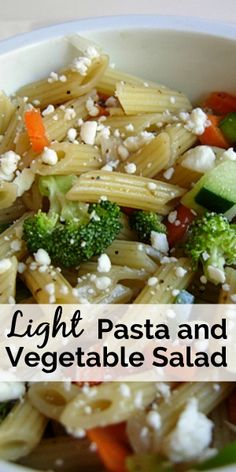 Light Vegetable Pasta Salad Recipe