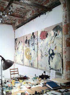 Anna Schuleit's Studio in Dumbo, Brooklyn
