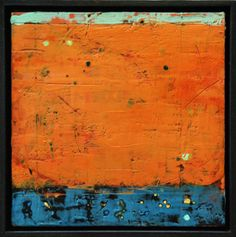 Laura Culic : Restoule : 12x12 ins. : encaustic and oil on panel.