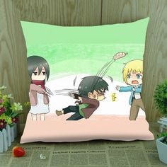 Funny Pillow Attack on Titan Cute Cartoon Pillow For Sofa