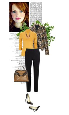 """""""Work Day?"""" by sherry7411 on Polyvore featuring Haider Ackermann, Paul Smith Black Label, Fendi, Lucky Brand and Brian Atwood"""