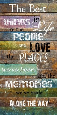 Inauguration Day #5 Memories at Westwood Community Church by Pastor Josh Miller on December 28, 2014 The best things in life are people we love, the places we've been and the memories we've made along the way. #thebucketlistlife
