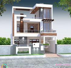 House Balcony Design, 3 Storey House Design, Kerala House Design, Bungalow House Design, Front Design Of House, House Front, Modern Small House Design, Modern Exterior House Designs, Classic House Design