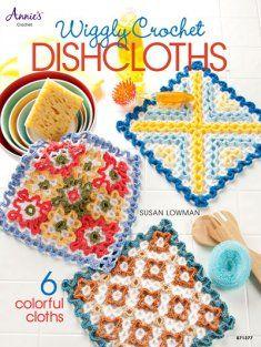 Wiggly Crochet Dishcloths Annie's Crochet, Crochet Dishcloths, Crochet Books, Crochet Home, Crochet Crafts, Crochet Projects, Double Crochet, Easy Crochet, Crochet Ideas