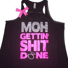Maid Of Honor Tank - Ruffles with Love - Sweating for the Wedding - We