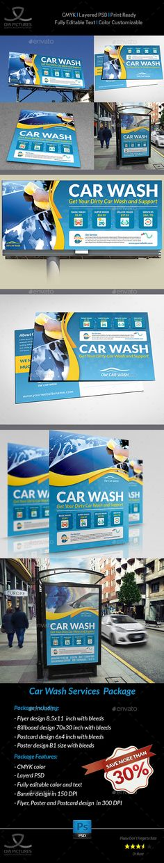 Car Wash Services Advertising Bundle Template