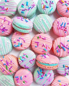 Fun Desserts, Delicious Desserts, Yummy Food, Macaron Dessert, Macaroon Wallpaper, Kreative Desserts, Macaroon Cookies, Shortbread Cookies, Cute Baking