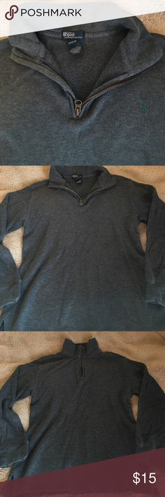 Polo By Ralph Lauren Gray Pullover Boys M(12-14) Nice Gray Pullover boys M(12-14).  Nonsmoking home & bundle for a deeper discount.  Open to offers Polo by Ralph Lauren Shirts & Tops Sweatshirts & Hoodies