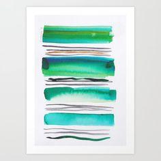 Lines & Color Block Series October 2018 Watercolor Art Paintings, Modern Art Paintings, Modern Art Prints, Watercolor Print, Watercolors, Pastel Watercolor, Watercolor Artists, Abstract Canvas Art, Canvas Art Prints