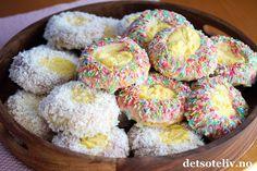 Verdens beste skolebrød med kokos og strøssel | Det søte liv