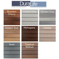 DuraLife Siesta Composite Decking Boards offer superior resilience on top of a sticking appearance. Featuring a polypropylene outer shell, these decking boards are fade, rot, and pest resistant. Pvc Decking, Composite Decking, Decking Boards, Decking Ideas, Patio Ideas, Porch Ideas, Composite Board, Fascia Board, Deck Flooring