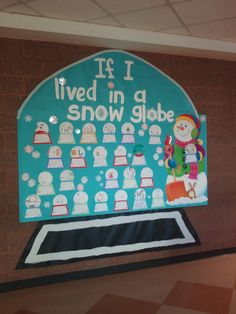 Perfect activity to go with The Snow Globe Family book