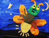 another example of an Eric Carle inspired firefly...1st grade example