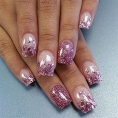 ShinyGemGlitteryPurlpleNailDesign♡