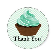 Couture Cupcake Bakery Thank You Stickers