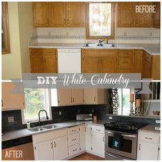 DIY White Kitchen Ca