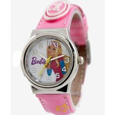 New Pink Band PNP Shiny Silver Watchcase Children Watch KW060A