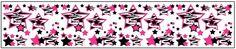 Hot Pink Zebra Stars Wallpaper Border Decals for teen girls room wall decor - Assorted colors #decampstudios