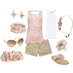 Short outfit, created by kaybraden on Polyvore