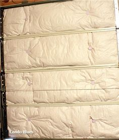 How to Insulate a Garage Door I need to put this on my honey do list! Pronto!