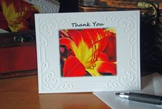 Check out this item in my Etsy shop https://www.etsy.com/listing/191903138/thank-you-orange-and-yellow-lily-embssed