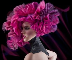 Stunning and vibrant hair image. Hair & Photo: Jake Thompson, Make-up: Janelle Corey. Image courtesy of Estetica: http://professional.estetica.it/index.php?method=section=zoom=1318#